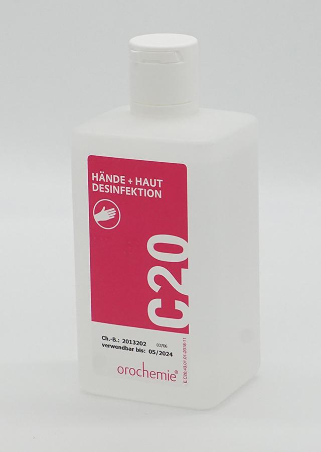 C20 Hände- und Hautdesinfektionsmittel 500ml