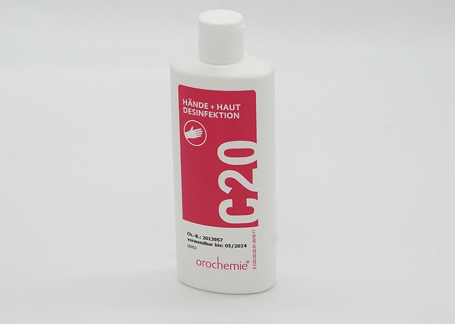 C20 Hände- und Hautdesinfektionsmittel 125ml Klappverschluss