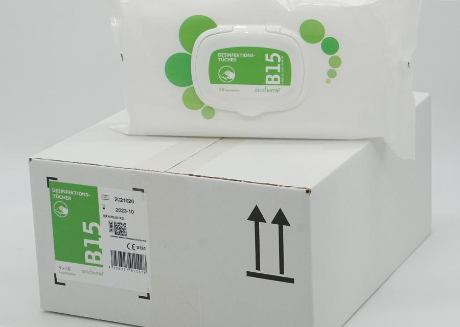 B15 gebrauchsfertige, alkoholfreie Desinfektionstücher für empfindliche Oberflächen