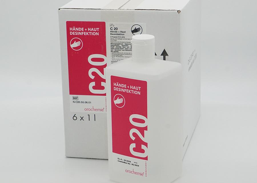 C20 Hände- und Hautdesinfektionsmittel 6x1000ml