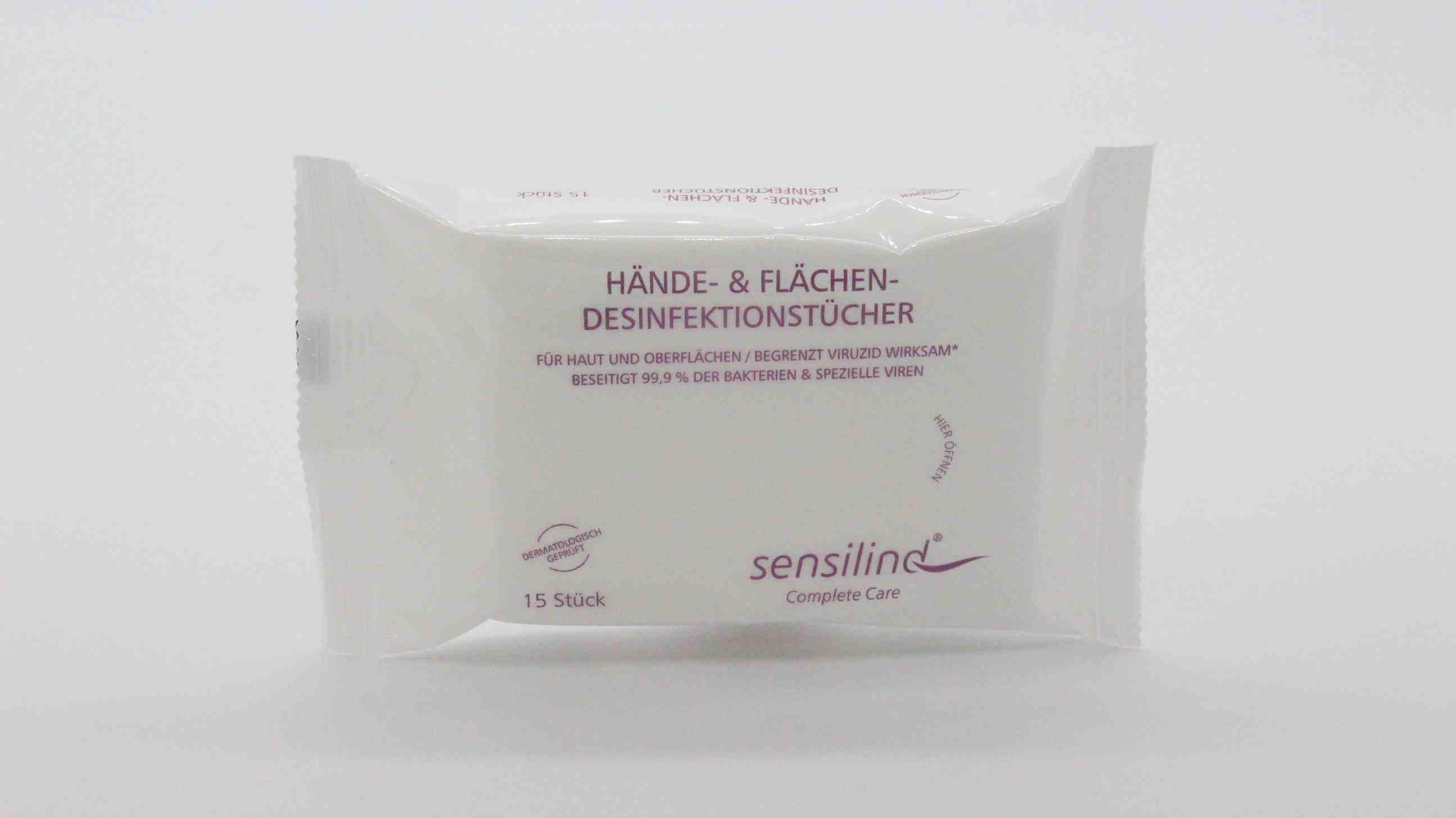 Sensilind Hände & Flächendesinfektionstücher
