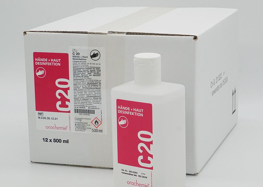 C20 Hände- und Hautdesinfektionsmittel 12x500ml